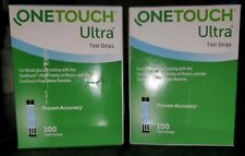One Touch Ultra Diabetic Test Strips Sealed 100 CT Box 3/22