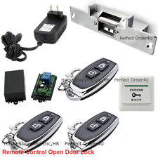 Door Access Control System With Electric Strike Lock+3 Wireless Remote Controls