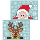 Christmas Xmas Santa Removable Window Sticker Art Decals Wall Home Shop Decor Uk