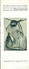Rossello Mario. Mostra personale. Milano, Galleria Schettini, 17-30 maggio 1955