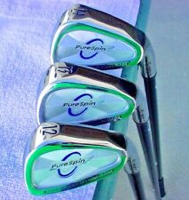 NEW PURESPIN STRAIGHT (FAT) SHAFT WEDGE SET MADE WITH KEVLAR, 52, 56, 60 DEGREES