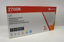 "Utilitech 3-Pack 85-Watt Equivalent White Led Recessed Retrofit Downlight 5-6"""