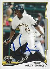 Willy Garcia Pittsburgh Pirates 2014 Topps Pro Debut Signed Card