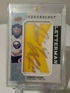 "2018-19 Chronology Letterman Dominik Hasek ""K"" # 4/15"