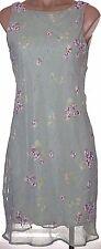 New BYER TOO! 11 jr. lined Green floral chiffon sleeveless sheath sun dress