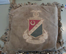 c1910 Kappa Sigma Fraternity Leather Suede pillow crest seal