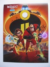 INCREDIBLES 2 CAST SIGNED 11x14 PHOTO DC/COA CRAIG T NELSON  HOLLY HUNTER DISNEY