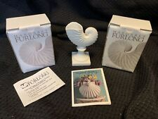 2 Margaret Furlong Paper Nautilus Small Vase and Place Card Holder in boxes. Nib
