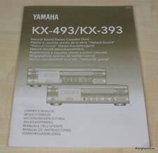 Yamaha KX-393 / KX-493 Bedienungsanleitung (mehrsprachig, auch in Deutsch)