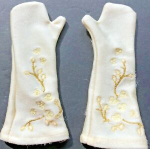 """American Girl tagged embroidered pair long gloves for """"gala party outfit"""""""