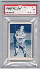 1952 Junior Blue Tint  Hockey Card Quebec Citadels Gaston Pelletier Graded PSA 7