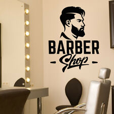 Autocollant Mural Vinyle Décalque Art Beauty fenêtre Coiffeurs Barber Shop Homme...