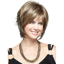 Fashion Sexy Women Short Brown Blonde Natural Hair Wigs Halloween Cosplay Wig