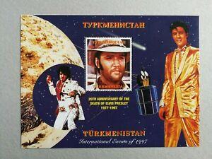 Sellos Turkmenistán. Hojita nueva  MNH. Elvis Presley