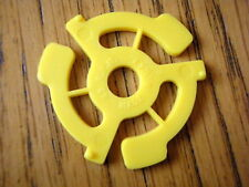 1 X YELLOW 45 RPM RECORD ADAPTER / CENTRE / SPIDER