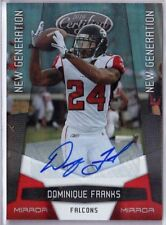 2010 Certified New Gen MIRROR RED Auto DOMINIQUE FRANKS #205 - Falcons /250