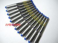 (Tracking no.) 12 x Pilot Vpen V-Pen Disposable Medium Nib Fountain Pen, Blue