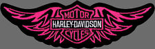 HARLEY DAVIDSON LADIES Straight Wing PINK  PATCH