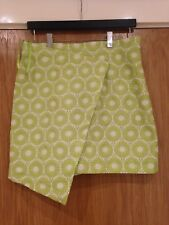 AX Paris Woman's Size 14 Lime Green & White 100% Polyester Wrap Over Skirt