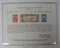 souvenir card PS 7 Exfilbra 1972 1930 Zeppelin airmail stamp