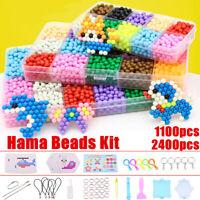 1000Pcs Aqua Refill Pack Water Fuse Beads Art DIY Craft Toys Kids Gifts