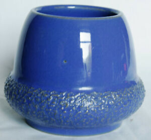 Antique Blue Stoneware Acorn Match or Vesta Holder and Strike 1305 A - JSD