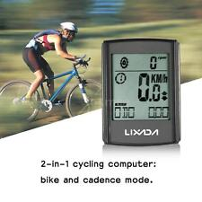 New Multifunctional 2-in-1 Wireless LCD Bicycle Cycling Computer Speed U6P0