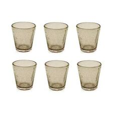 Villa d'Este Home Tivoli Cancun Set 6 Bicchieri d'Acqua, Vetro, Fumé (C7G)