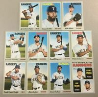 TEXAS RANGERS 2019 Topps Heritage BASE TEAM SET (11 Cards) Trevino/Springs RC+
