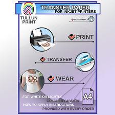 T Shirt Transfer Paper For Inkjet Printers DIY For Light Color Fabrics 2 Sheets