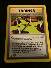Pokemon TCG Gym Heroes Celadon City Gym 107/132 Uncommon First Edition NM/MINT