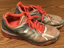 Nike 487679-009 Air Max + 2012 Silver Orange Red Women's Running Shoes Sz 9.5