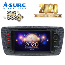 Seat Ibiza 2009-2013 2 Din 7'' Car Stereo CD DVD Sat Nav GPS Bluetooth DAB+ SWC
