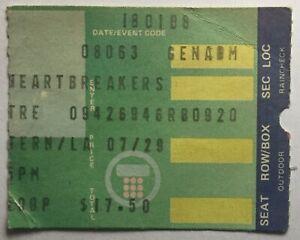 Tom Petty Original Used Concert Ticket Wiltern Theatre Los Angeles 6 Aug 1985