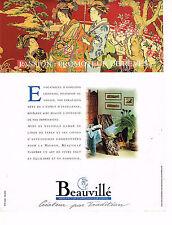 PUBLICITE ADVERTISING 074  1994  BEAUVILLE   linge de table & maison