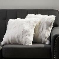 Genuine Rabbit Fur Rug Throw Square PillowCase Cover 40x40CM Decorate Cushion