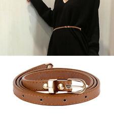 Women Lady Belts Boho Leather Metal Pin Buckle Waist Belt Waistband New Fashion
