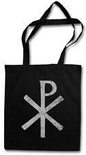 CHI RHO SYMBOL EINKAUFSTASCHE Christusmonogramm Konstantinisches Kreuz XP Ichtys
