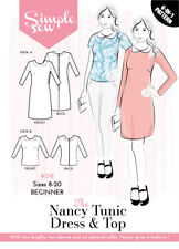 Womens BEGINNER The Nancy Tunic Dress & Top UK SIZE 8-18 Sewing Pattern