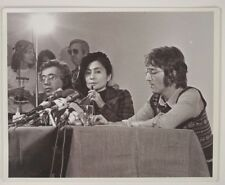 "BEATLES: JOHN LENNON and YOKO ONO (1971) Paul Petock 8"" x 10"" PROOF PHOTOGRAPH 1"