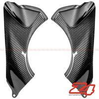 2007 2008 Ninja ZX-6R Front Dash Air Duct Intake Cover Fairing Cowl Carbon Fiber