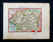 1601 A. ORTELIUS -rare map of FRANCE, LOTHARINGIA, MOSELLE River, GERMANY, MEUSE