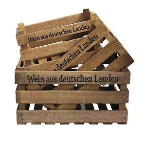 3 Obstkisten Apfelkisten Weinkisten Holzkisten Weinkiste Regal Holzkiste Kiste