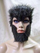 Furry WereWolf Costume Mask Wolverine Chimpanzee Ape Monkey Caveman Neanderthal