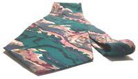 J. GARCIA Necktie Tie 100% Silk Green, Pink, Blue, Brown Abstract