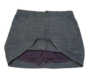 Croft & barrow skort Shorts under skirt Womens Size 18 Blue Chambray (ski0023Dd)