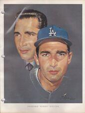 1964 Union 76 Nicholas Volpe Print Sandy Koufax Portrait - Los Angeles Dodgers