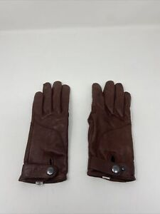 Rapha Leather Town Gloves - Brown Small