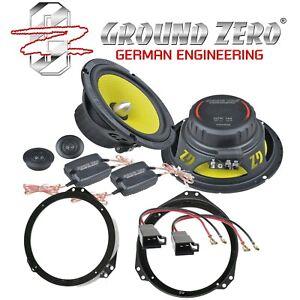 Ground Zero Titanium 165mm Lautsprecher Kompo für Opel Calibra A