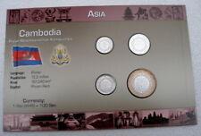 Cambodge Mixte Date de présentation numismatique ensemble.